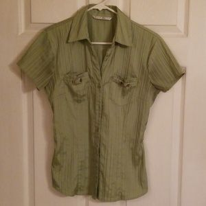 Fred David Fitted Dress Blouse SS Size XS.